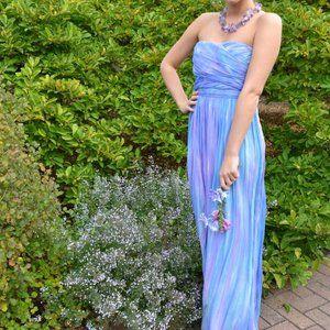 Bohemian silk Maxi Dress Bridesmaid 2 4 6 8 small